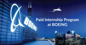 Paid Internship Program at BOEING