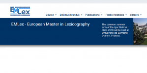 Erasmus Mundus European Master in Lexicography Programme with Fully Funded Fellowships 2018