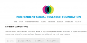 Concours d'essais de la Fondation indépendante de recherche sociale 2018