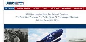 École d'été - La guerre froide à travers les collections du musée intrépide, 22 juillet - 3 août 2018, États-Unis
