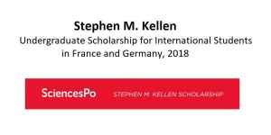 Stephen M. Kellen Undergraduate Scholarship in France and Germany