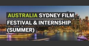 Le Sydney Film Festival et Internship Program 2018 (été)
