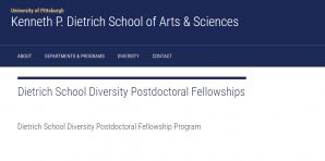 Université de Pittsburgh Dietrich offre des bourses postdoctorales de diversité scolaire 2018, États-Unis