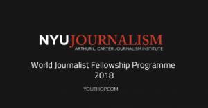 programme mondial de bourses de journalisme 2018 aux Etats-Unis