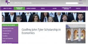 Bourse St Godfrey John Tyler de St Cross College en économie 2018, Royaume-Uni