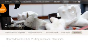 Bourses de recherche invitées de l'Institut Henry Moore 2018, Royaume-Uni