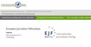 Freie Universität Berlin European Journalism-Fellowships 2018, Germany