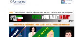 """Programme  de bourses de mastère  et stages  en Italie  """"Invest Your Talent in Italy 2018"""""""