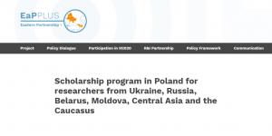 Programme de bourses d'études de l'Université de Varsovie 2018, Pologne