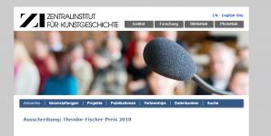 Prix Theodor Fischer de l'Institut central d'histoire de l'art 2018