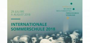 Université d'été - une (nouvelle) République de Lettres: Communautés intellectuelles, transfert mondial de connaissances, 29 juillet - 9 août 2018, Allemagne