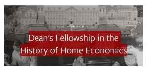Bourse de recherche du doyen en histoire de l'économie domestique 2018, Université Cornell, États-Unis