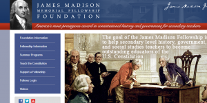 James Madison Memorial Fellowship Foundation Graduate Fellowships 2018, USA