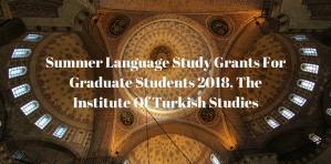 Subventions d'études linguistiques d'été pour étudiants diplômés 2018, Institut d'études turques