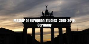 Appel à candidatures - Master of European Studies 2018-2019, Allemagne