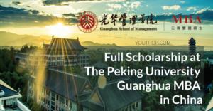 bourse complète MBA à l'Université de Pékin en Chine