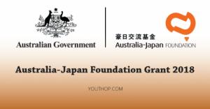 Bourse de la Fondation Australie-Japon 2018