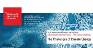 Le défi de Genève 2018 - Concours international pour les étudiants diplômés