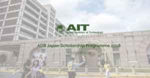 Programme de bourses BAD-Japon 2018 à l'AIT, Thaïlande
