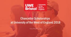 Bourses du Chancelier à l'Université de l'Ouest de l'Angleterre 2018