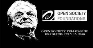 Bourse Open Society 2018