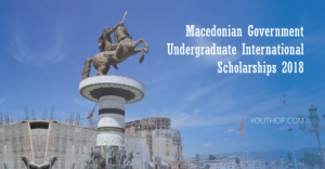 Bourses internationales de premier cycle du gouvernement macédonien 2018
