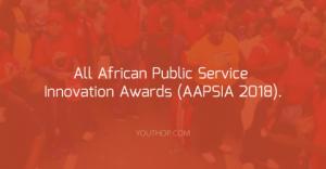 Les prix de l'innovation dans la fonction publique africaine (AAPSIA 2018).