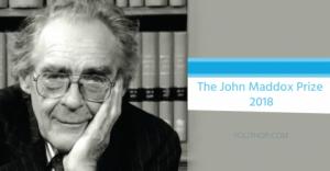 Le prix John Maddox 2018