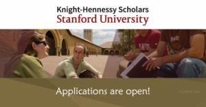Programme de bourses Knight-Hennessy 2018 à l'Université de Stanford