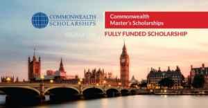 Bourses du Master du Commonwealth 2019 entièrement financées au Royaume-Uni
