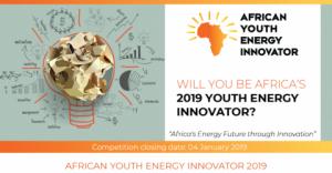 Le concours des jeunes innovateurs énergétiques en Afrique 2019