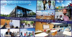 Bourse de scolarité pour étudiants de premier cycle 2019 de l'Université Abdullah Gül, Turquie