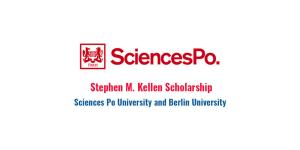 Bourse d'études Stephen M. Kellen