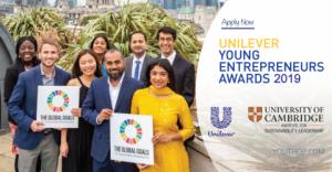 Prix Unilever des jeunes entrepreneurs 2019