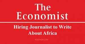 The Economist embauche un journaliste pour écrire sur l'Afrique