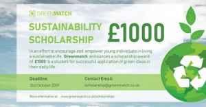 Bourse de développement durable GreenMatch de 1 000 £