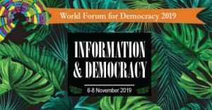 Forum mondial de la démocratie 2019 en France (entièrement financé)