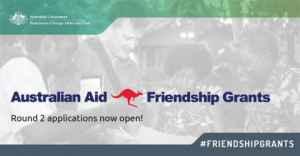 Aide australienne: subventions d'amitié 2019 (fonds de 30 000 à 60 000 dollars)