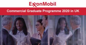 Programme de fin d'études commerciales ExxonMobil 2020 au Royaume-Uni