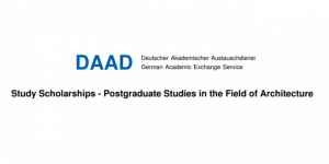 Study Scholarships – Postgraduate Studies in the Field of Architecture -DAAD