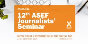 12ème Séminaire des journalistes de l'ASEF