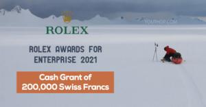 Prix Rolex pour l'entreprise 2021 (subvention en espèces de 200 000 francs suisses)