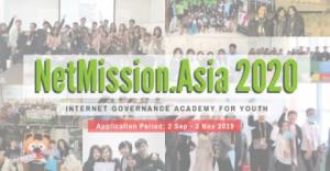 NetMission.Asia 2020 – académie de gouvernance d'internet pour les jeunes
