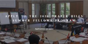 Programme de boursiers d'été Draper Hills 2020
