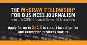 The McGraw Fellowship 2020 for Business Journalism