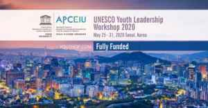 UNESCO Youth Leadership Workshop 2020 in Seoul, Korea (Fully Funded)