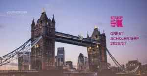 GREAT Scholarships 2020/21 For Masters Degree in the UK