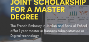 Fully Funded Master Scholarship in Technology  Business for Jordaniains from the Embassy of France 2020