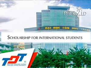 TON DUC THANG UNIVERSITY'S SCHOLARSHIPS  FOR INTERNATIONAL STUDENTS IN 2020