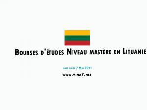 Bourses d'études niveau mastère en Lituanie, 2021